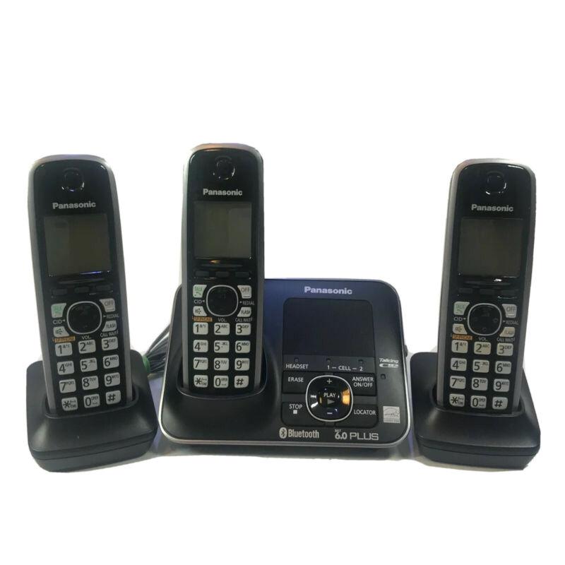 Panasonic KX-TG7621 Cordless Phone System Bluetooth Dect 6.0 Handset 3 Phones
