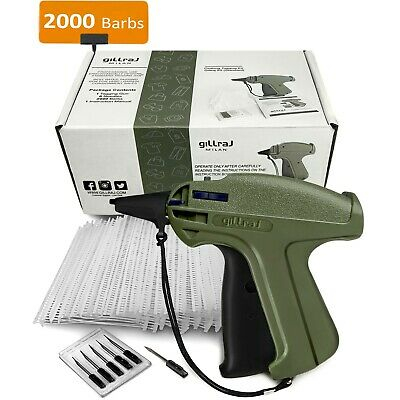 Gillraj Clothes Price Tagging Gun With 2000 2 Standard Size Barbs And 6 Needles