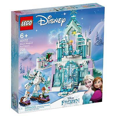 Disney Lego 43172 Frozen 2 Elsa Magical Ice Palace Toy Castle Anna Mini Dolls