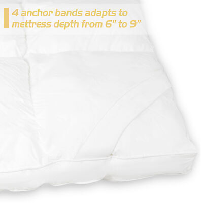 "2"" Thick Ultra Plush Queen Mattress Topper Breathable Premium Cotton -"