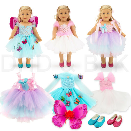"""For American Girl 18"""" inch Dolls Clothes Outfit Fairy Princess Dress Butterfly"""