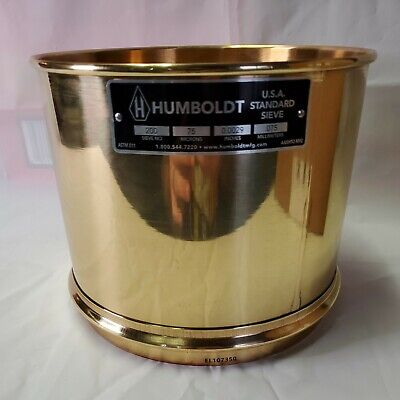 Humboldt 8 Inch 200 Tall Sieve Screen Geotechnical Testing Great Deal