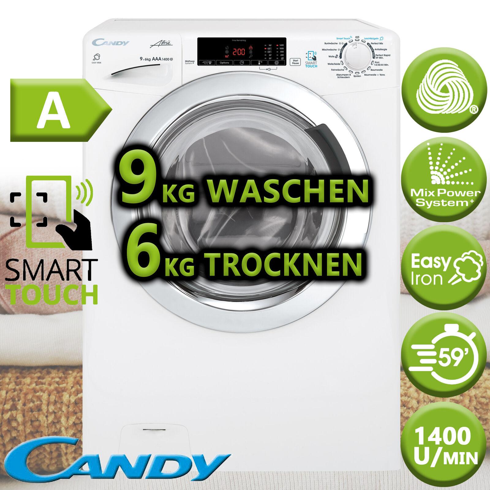 Waschtrockner Waschmaschine Wäschetrockner Trockner 9+6kg Dampf NFC Candy Hoover
