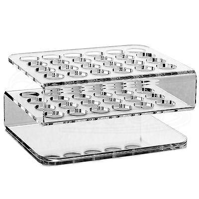 24-Loch Reagenzglashalter für 16 mm Reagenzgläser aus Acryl ☆ Reagenzglasständer