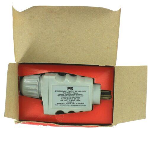 Pass & Seymour 15A-120V Ground Fault Circuit Interrupter Rain-tite  Plug GF-15-P