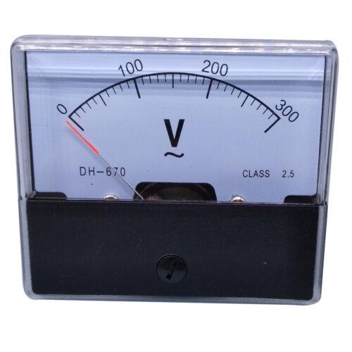 US Stock Analog Panel Volt Voltage Meter Voltmeter Gauge DH-670 0-300V AC