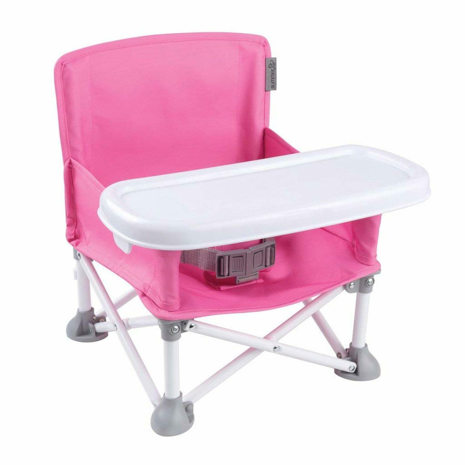 Color : Blue, Size : 29 * 21 * 44cm Portable High Chair Infant Tray Travel Booster Seat Foldable Chair Removable Baby Feeding Dinning Chairs