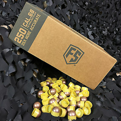 NEW Tiberius Arms First Strike Paintball Rounds - 250 Count - Brass/Copper