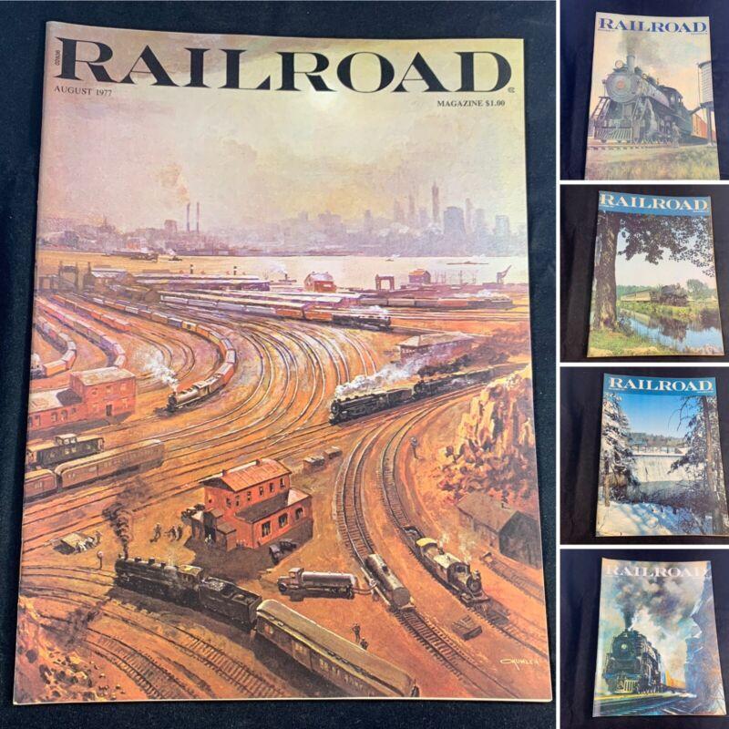 (Lot Of 5) Railroad Magazine August, Sept, October, Dec 1977, January 1978