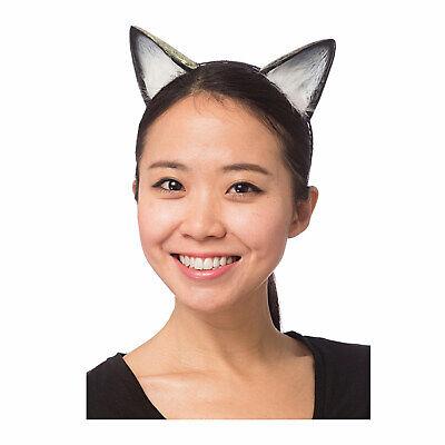 Cat Kitten Animal Ears Headband Halloween Black White Furry Costume Accessory - Furry Animal Halloween Costumes