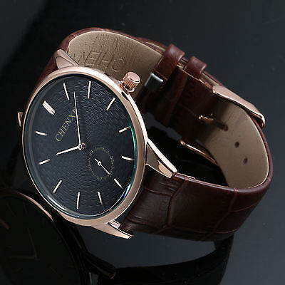 Kyпить Luxury Quartz Sport Military Stainless Steel Dial Leather Band Wrist Watch Men на еВаy.соm