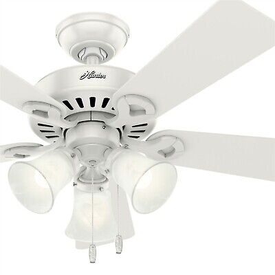 Hunter Traditional Light Kit (Hunter Fan 44 inch Traditional Fresh White Indoor Ceiling Fan with Light Kit )