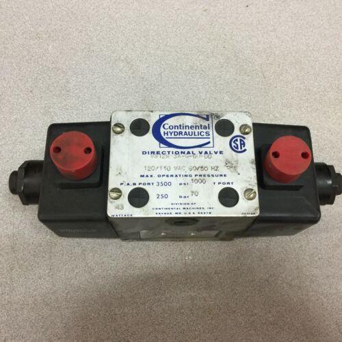 NEW NO BOX CONTINENTAL 120VAC SOLENOID VALVE VS12M-3A-G-60-DD