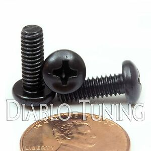 8 32 black machine screws