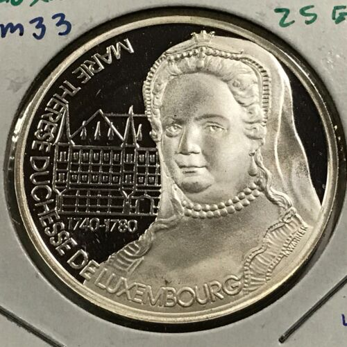 1994 LUXEMBOURG SILVER 25 ECU PROOF UNCIRCULATED CROWN SCARCE ISSUE