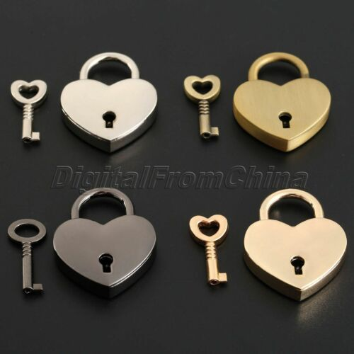 Mini Padlock Love Heart Shape Padlock Tiny Luggage Bag Case