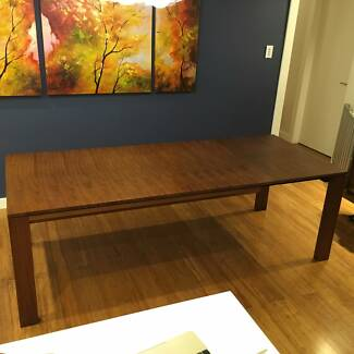 King Furniture Walnut Dining Table (extendable) Cammeray North Sydney Area Preview