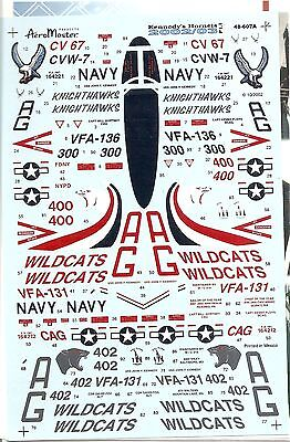 Aeromaster Decal 48-607 Kennedy''s Hornets 2002/03 Pt.1 F-18C