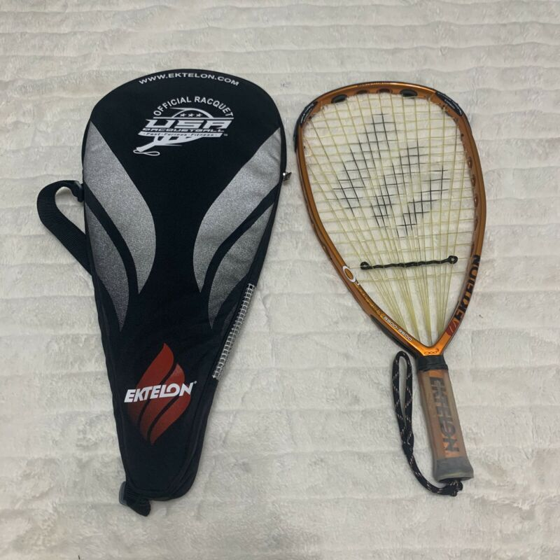 EKTELON o3 Copper Racquetball Racquet 3300-3500 Amazing Condition Must See W/Bag