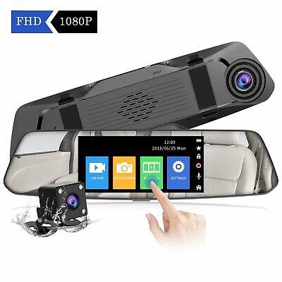 【2019 Nuova Versione】 CHORTAU Telecamera per Auto da 48 pollici Touchscreen F...