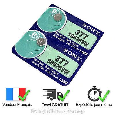 2 PILES SR626SW / SR626 / 377 / 1, 55V SONY / ENVOI RAPIDE