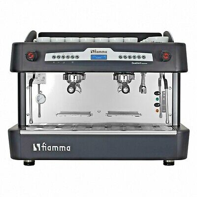 Commercial 2 Group Espresso Machine Cappuccino Lcd Display Loaded With Tech