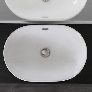 Lavabo per incasso soprapiano in ceramica 60x40cm - Lavandino da incasso bagno ...