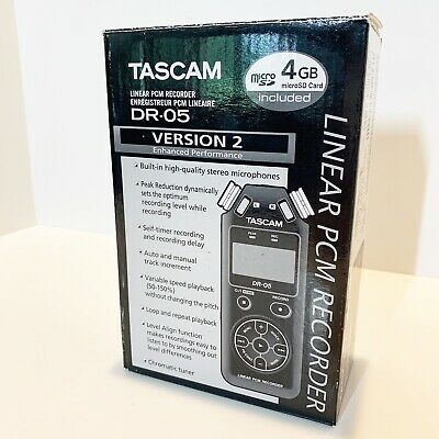 Tascam DR-05 Version 2 Linear PCM Recorder Stereo Handheld Recorder Open -