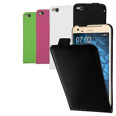 Schutzhülle für HTC Modell Flipcase Cover Case Tasche Schale Etui + Schutzfolien ()
