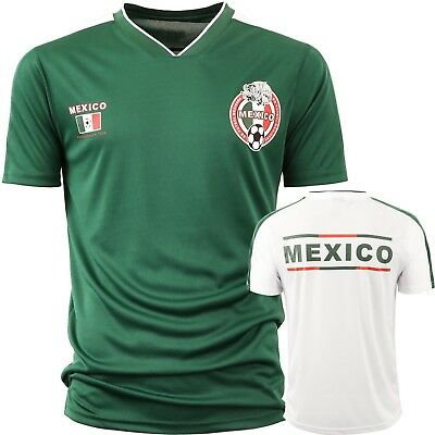 Mexico Soccer Jersey 2018 World Cup uniform Football team Player White/Green Men