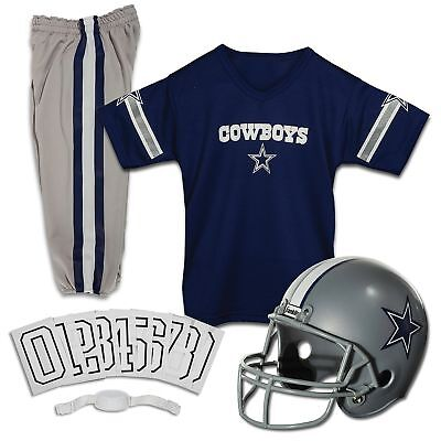 YOUTH LARGE Dallas Cowboys NFL UNIFORM SET Game Football Costume Ages 10-12 NEW - Dallas Cowboys Youth Uniform Set
