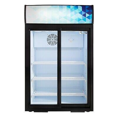 24.75 Countertop Display Refrigerator Sliding Door Merchandiser Etl Cooler New