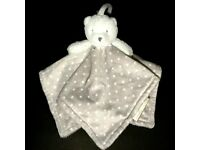 Blue and White Dots Bay Boy Bear Nunu Blanket Blankets and Beyond