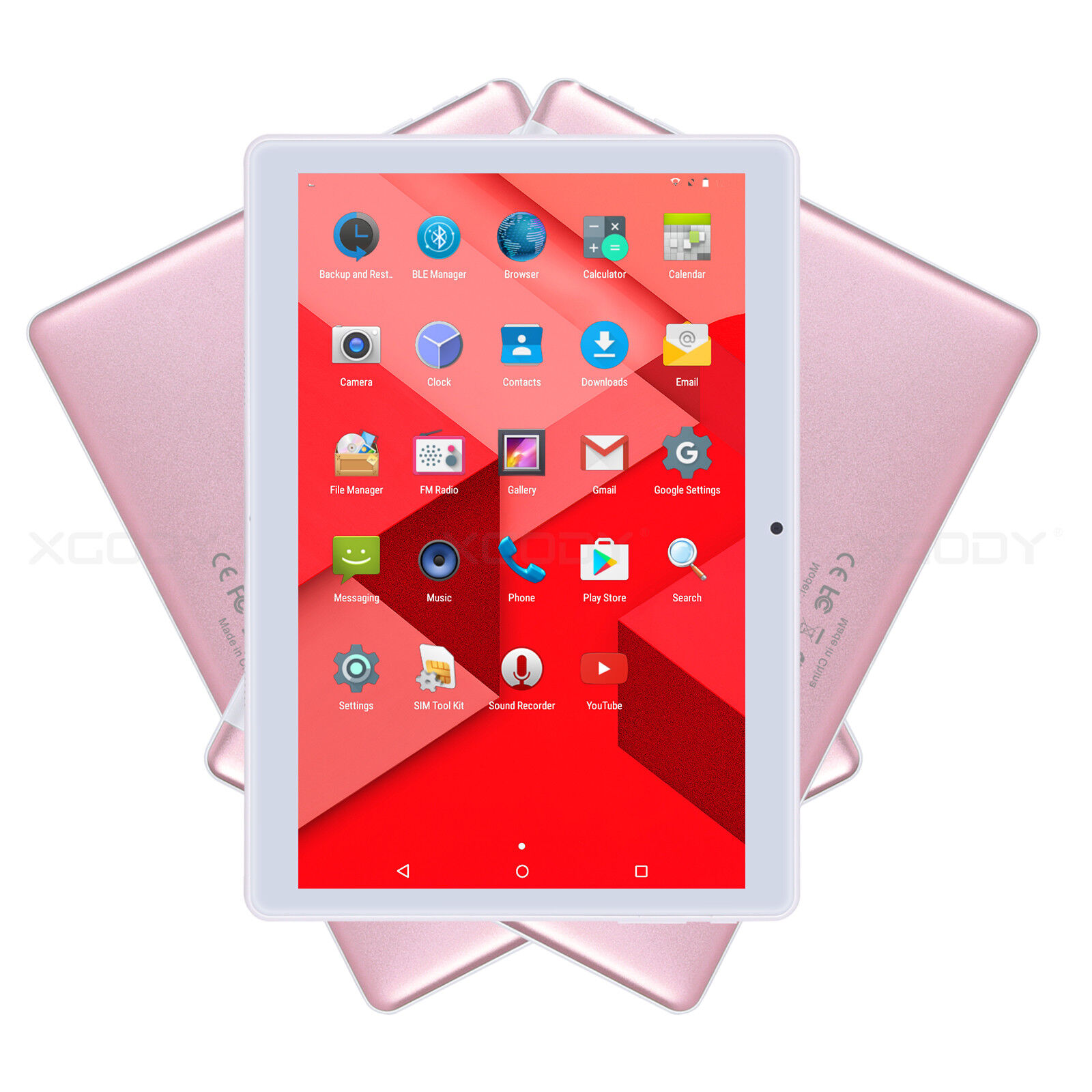 XGODY TB02 10.1'' Android 7.0 Tablet PC Quad Core 3G Dual SIM 1+16GB IPS HD Pink