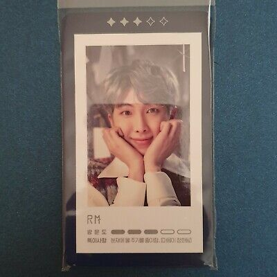 Rm - Official Photocard BTS Magic Shop Guestbook Card