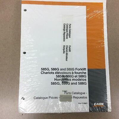 Case 585g 586g 588g Parts Manual Catalog Book Forklift 4x4 Guide List Bur 7-5441