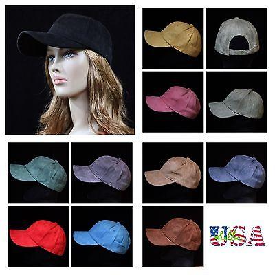 Suede Vintage Cap (Suede Baseball Cap Plain Hat Visor Solid Caps Unisex Vintage Casual Hats)
