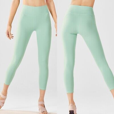 Fabletics Cropped Mint Green Workout Leggings Sz XS