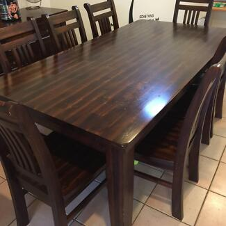 dinning table with 8 chairs solid quality