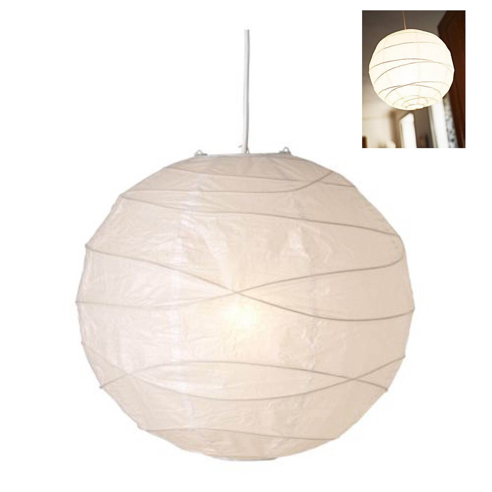 PARALUME CARTA DI RISO 45 CM DIAMETRO LAMPADA SOSPENSIONE IKEA REGOLIT