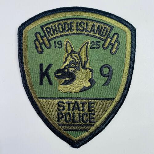 Rhode Island State Police K9 Canine OD Green Patch (B)