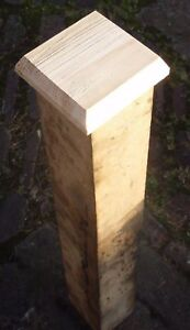 WOODEN FENCE POST CAPS (4
