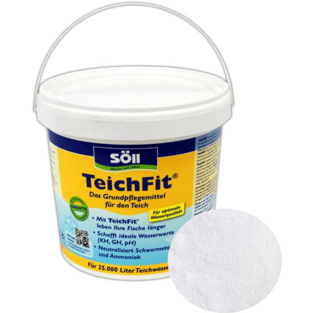 SÖLL TeichFit 2,5 kg - Teich Fit Gartenteich Wasserqualität KH GH pH Teichpflege
