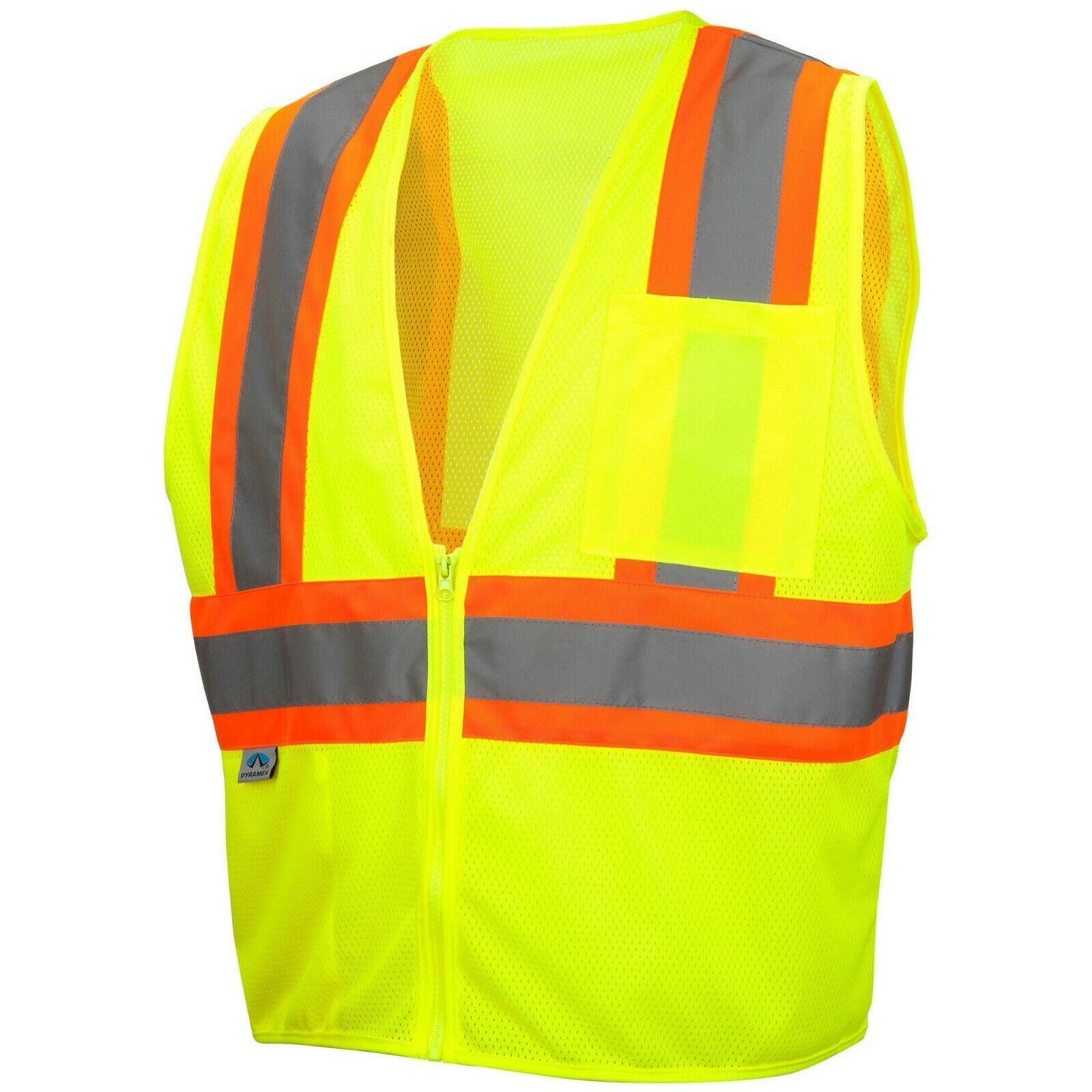 Pyramex RVZ2210 Type R Class 2 Mesh Two-Tone Safety Vest – Yellow/Lime – M-5XL Business & Industrial