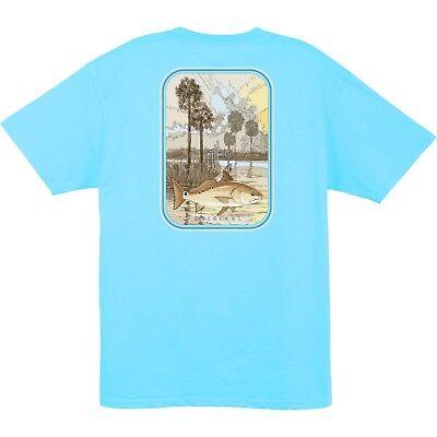 Guy Harvey Mens Redrise S/S Redfish Fishing Boat Fish T-shirt..Pick Size..PBLU