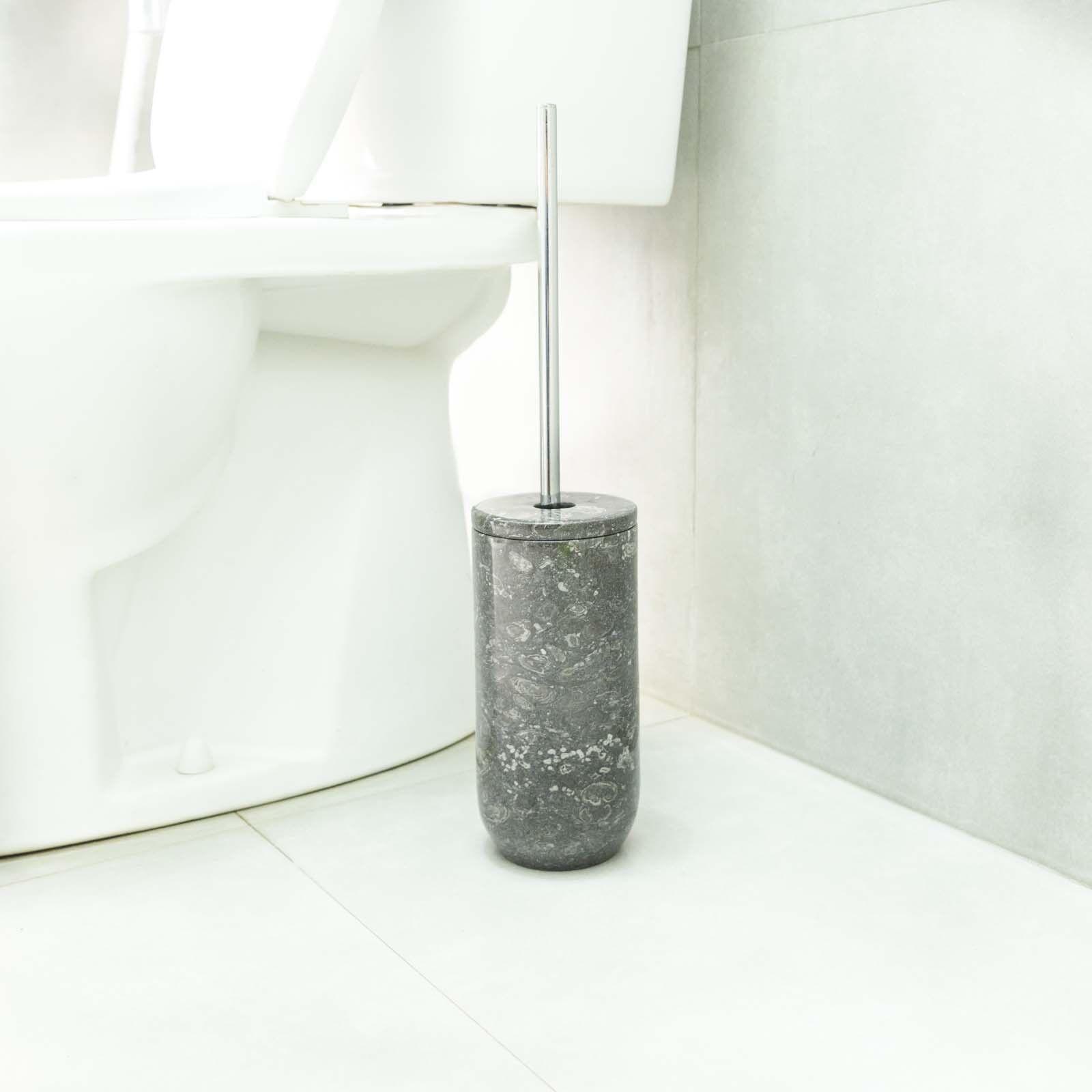 Naturstein Toilettenbürsten-Halter Marmor Klobürstenhalter anthrazit wohnfreuden