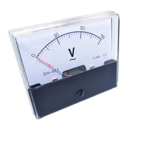 US Stock Analog Panel Volt Voltage Meter Voltmeter Gauge DH-670 0-150V AC
