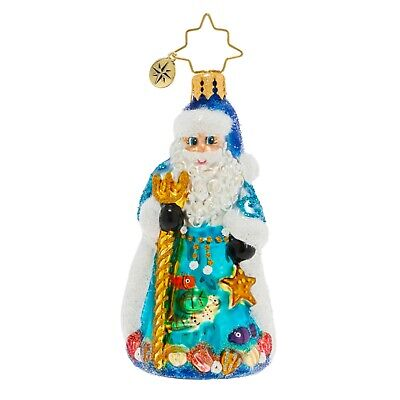 [NEW Christopher Radko SEAS THE DAY SANTA Christmas Ornament 1020267 Little Gem</Title]