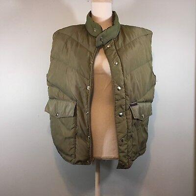 Windbreaker Brand Mens Puffer Vest~Sleeveless~Down Fill~Zip/Snap~Pockets~Size M Down Windbreaker