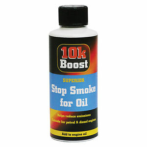 10k boost stop smoke oil treatment additive reduce oil for Does motor oil burn